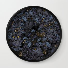 Fit In (moonlit blue) Wall Clock