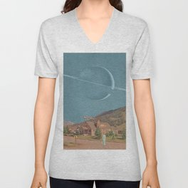 SIMPLY SATURN Unisex V-Neck