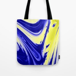 Swirls Of Blue and Yellow Tote Bag
