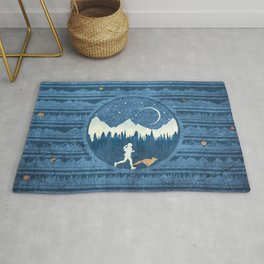 Running With A Fox Rug
