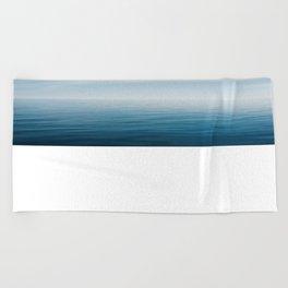 sky meets lake Beach Towel