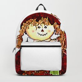 Strawgirl jGibney The MUSEUM Society6 Gifts Backpack