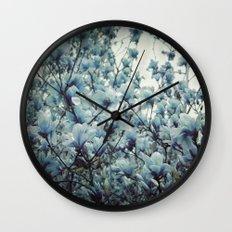 Magnolia Blues Wall Clock