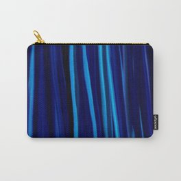 Stripes  - Ocean blues and black Carry-All Pouch