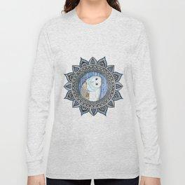 Winter Barn Owl Mandala Long Sleeve T-shirt