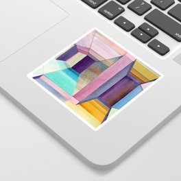 Watercolor Perspective Collage Sticker