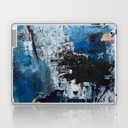 Breathe: colorful abstract in black, blue, purple, gold and white Laptop & iPad Skin