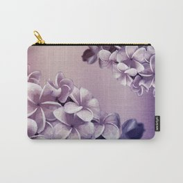 Purple Plumerias Ombre Carry-All Pouch