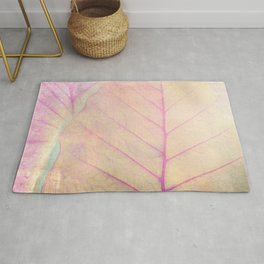 Pink Leaf Abstract Rug