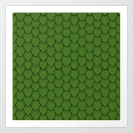 Dragon Scales in Green Art Print