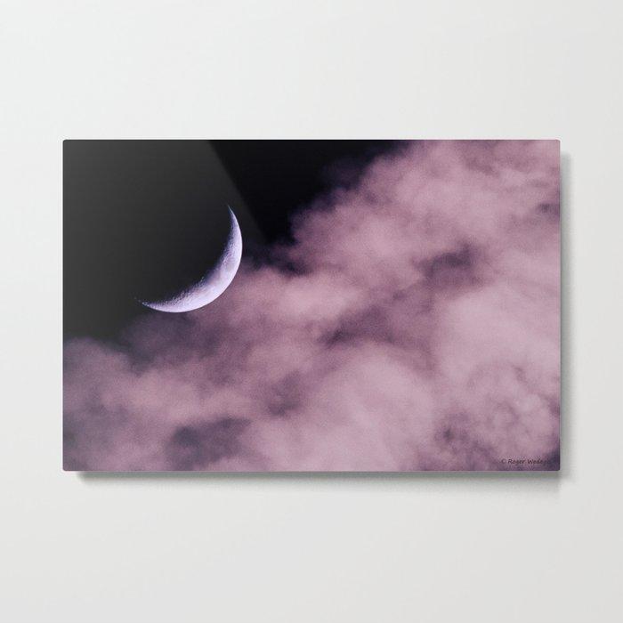 Crescent Moon On A Fluffy Pillow Metal Print
