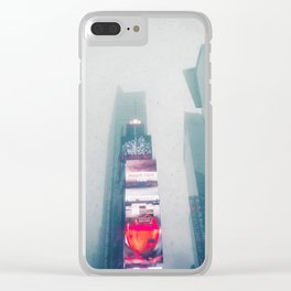 The City of Screens (Color) Clear iPhone Case