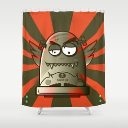Fault 45 01 (its not his fault) Shower Curtain