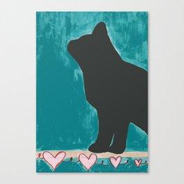 Shadow Cat Canvas Print