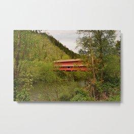 Office Covered Bridge - Westfir, Oregon Metal Print