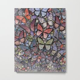 butterflies galore grunge version Metal Print