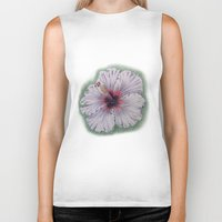 hibiscus Biker Tanks featuring Hibiscus by Allison Langston