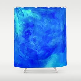 Ice Palace Watercolor Texture Shower Curtain