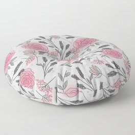 Soft and Sketchy Peonies Floor Pillow