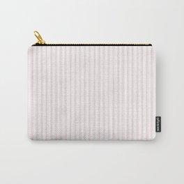 Light Millennial Pink Pastel Color Mattress Ticking Stripes Carry-All Pouch