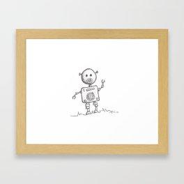Piggy Bot Framed Art Print