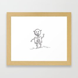 Piggy Bot Framed Art Print