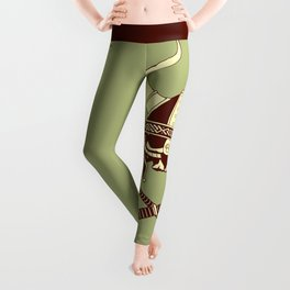 Viking skull v2 Leggings