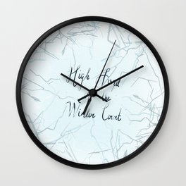 High Lord of the Winter Court Wall Clock