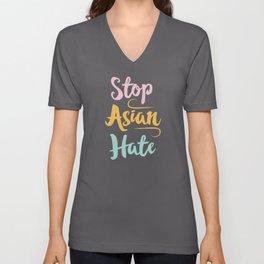 Equality Stop Asian Hate AAPI Supporter Gift Unisex V-Neck