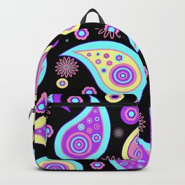 Oriental Persian Paisley - Blue Purple Pink Backpack