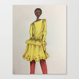 Bold in Yellow (Zoomed) Canvas Print
