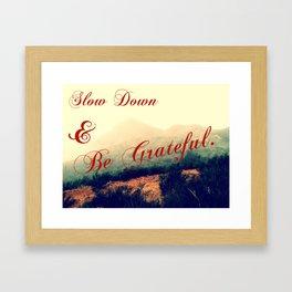 Be Grateful Framed Art Print
