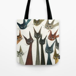 Damascus Whimsical Cats Tote Bag