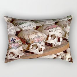 """Hallstatt, Austria Beinhaus """"Bone House"""" Rectangular Pillow"""