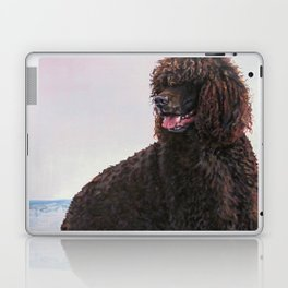 Irish Water Spaniel dog art from an original painting by L.A.Shepard Laptop & iPad Skin