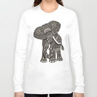 ornate Long Sleeve T-shirts featuring Ornate Elephant by ArtLovePassion