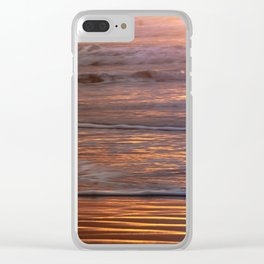Perfect Tropical Beach Sunset Waves - Nature Photography Clear iPhone Case