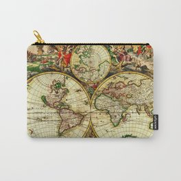 Ancient World Map 1689 Carry-All Pouch