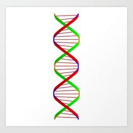 DNA Twin Spiral Art Print