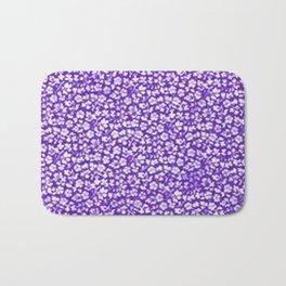 Vintage Flowers Purple Bath Mat