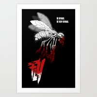 politics Art Prints featuring INSECT POLITICS by BeastWreck