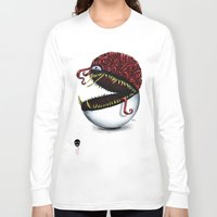 pokeball Long Sleeve T-shirts featuring Evil pokeball  by Capadochio