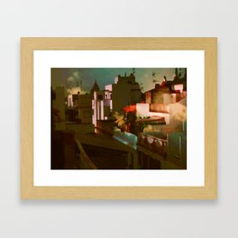 Summer in the cit Framed Art Print
