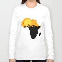 south africa Long Sleeve T-shirts featuring Africa by Emir Simsek