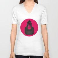 gorilla V-neck T-shirts featuring Gorilla by Alejandro de Antonio Fernández