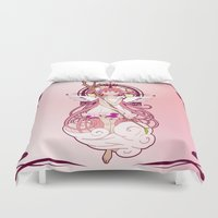 madoka Duvet Covers featuring Madoka Kaname - Nouveau edit. by Yue Graphic Design