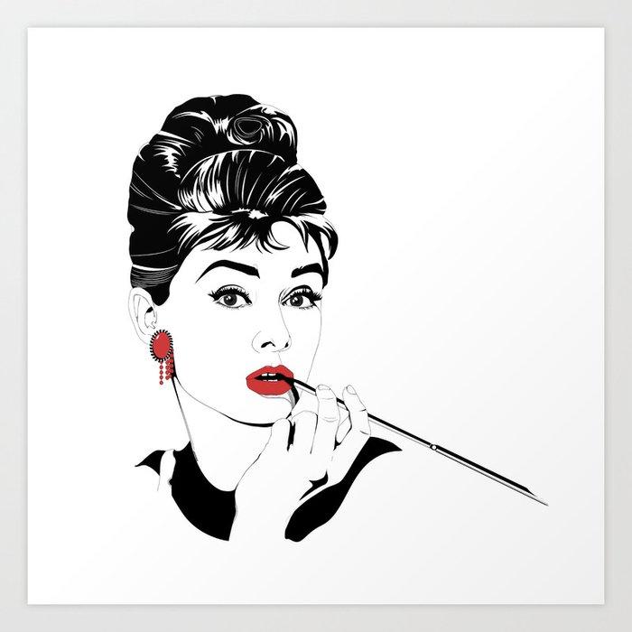 Audrey Hepburn Art Print By Arpandholi Society6