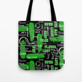 Gamer Lingo-Black and Green Tote Bag