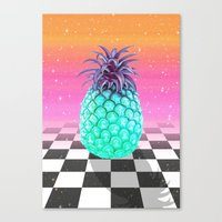 pineapple Canvas Prints featuring Pineapple by Danny Ivan