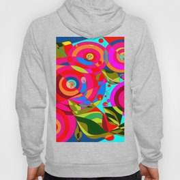 Spiral Flowers with Many Colors Hoody